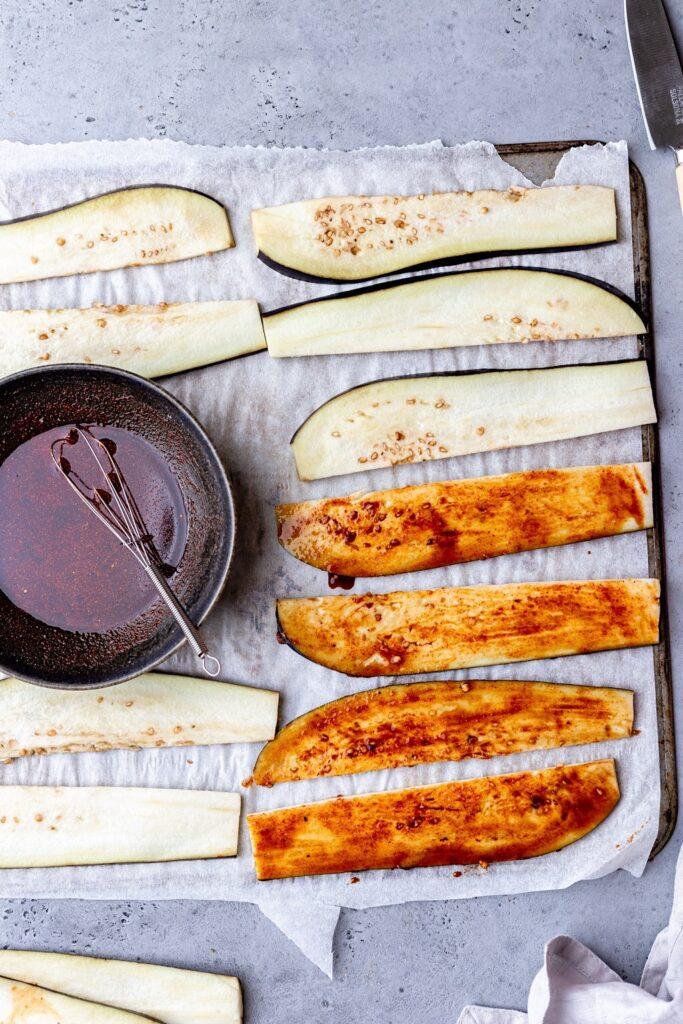 Vegan Eggplant Bacon Marinade
