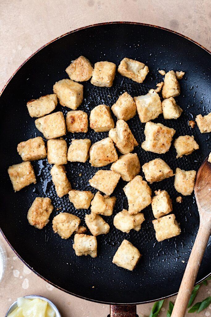 Crispy Tofu Chunks