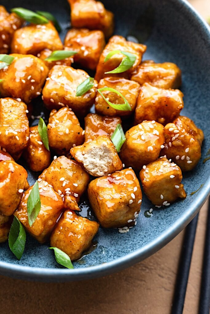 Vegan Sweet and Sour Tofu #tofu #sweetandsour #chinesefood #dairyfree