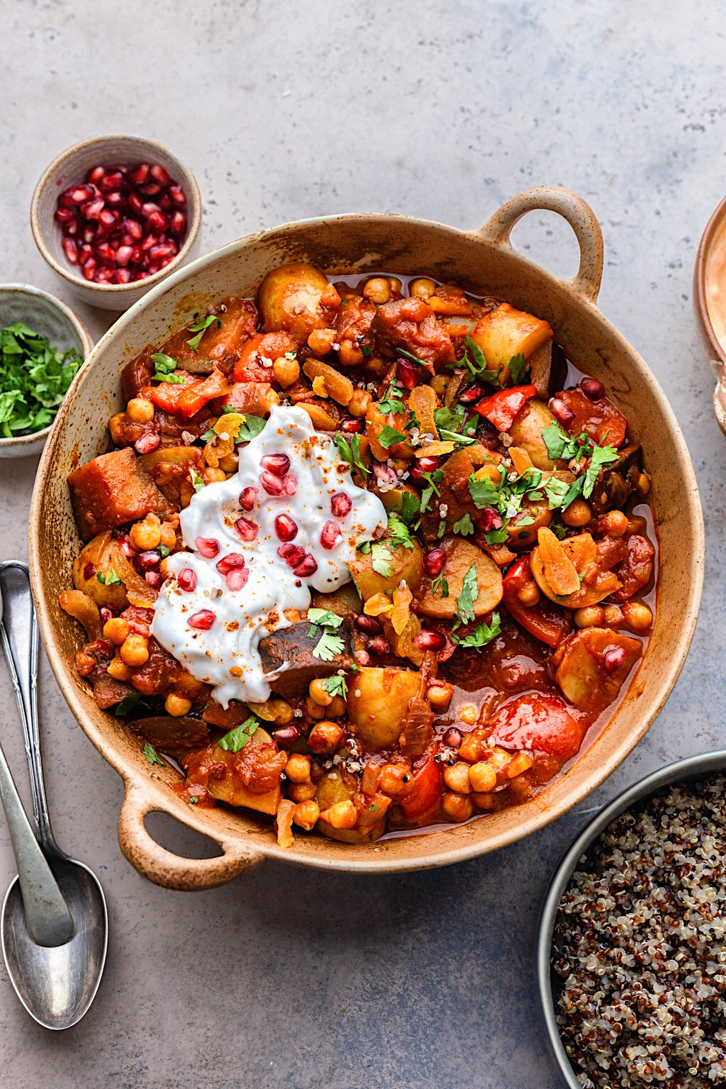 Moroccan Vegetable and Chickpea Stew #moroccan #vegan #dairyfree #stew #onepot #recipe