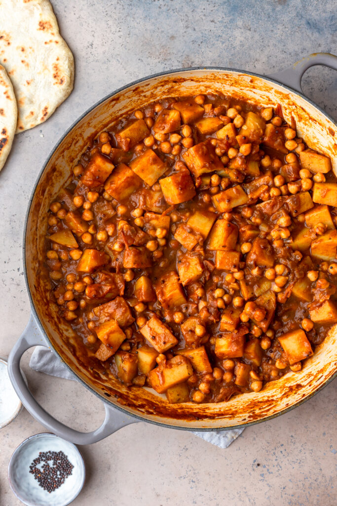 Vegan Chickpea and Potato Bombay Curry