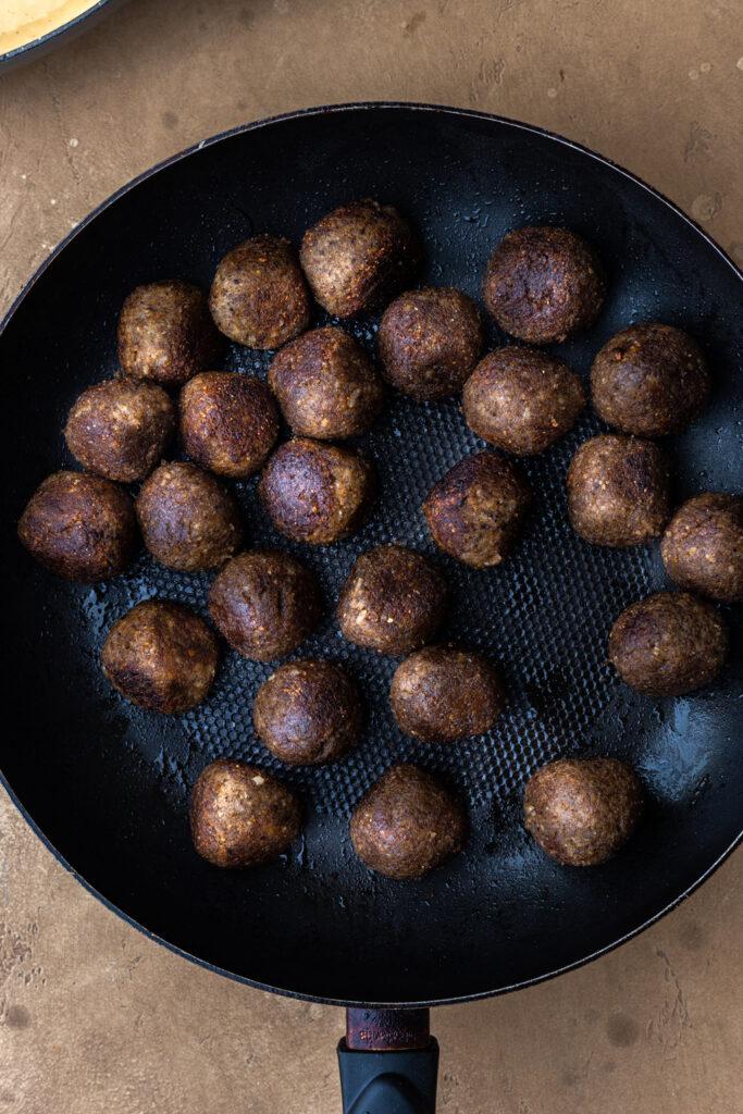 Vegan Swedish Meatballs in Pan