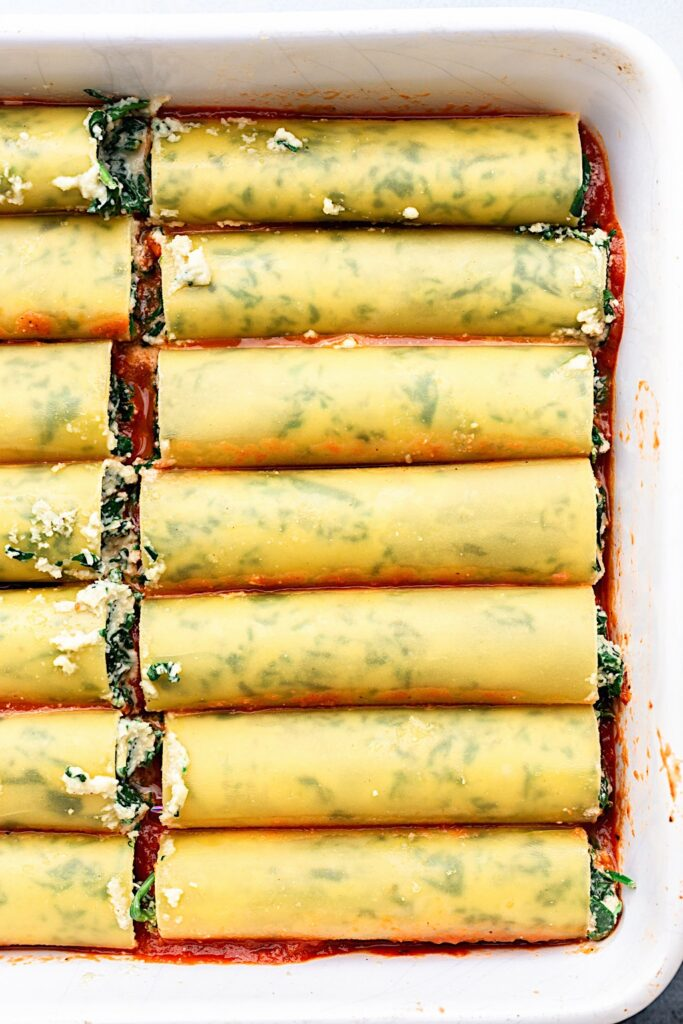 Vegan Spinach and Ricotta Cannelloni