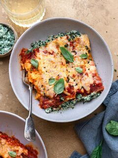 Vegan Spinach and Ricotta Cannelloni #spinach #ricotta #pasta #vegan #dairyfree #recipe