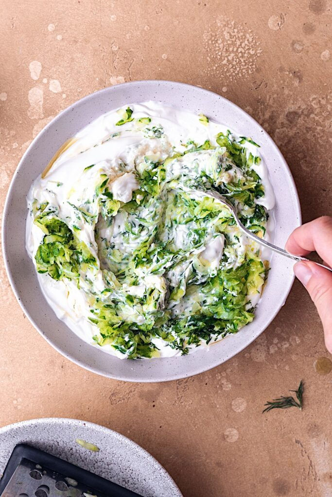Vegan Tzatziki Ingredients #dairyfree #tzatziki #greek #dip #meze #sauce #yoghurt